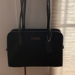Black Vintage Neoprene Handbag